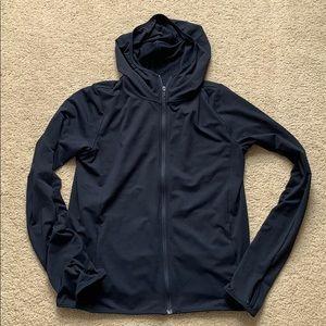 uniqlo airism uv cut mesh hoodie sm navy